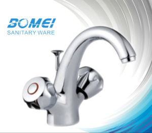 Doubble Brass Body Handle Basin Faucet (BM56603) pictures & photos