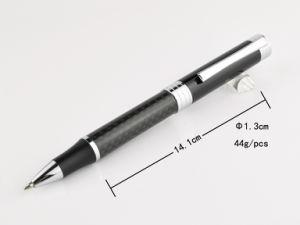 Tx005b Unique Clip Metal Carbon Fiber Twist Ballpoint Pen