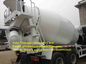 HOWO 10 Wheels Concrete Mixer Truck 10 Cubic Meter with Eaton Pump and Motor pictures & photos