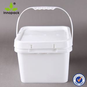 Square 8L Plastic Bucket and Container with Lid pictures & photos