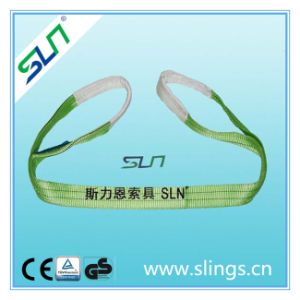 2t*8m Double Eye Webbing Sling Safety Factor 6: 1 pictures & photos