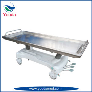 Hydraulic Stainless Steel Funeral Products Autopay Embalming Table pictures & photos
