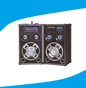 8 Inch 2.0 Powered DJ Speaker with Disco Light 6006 pictures & photos