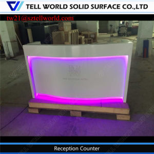 Modern Corian Reception for Dental White Decorative Hotel Reception Desk pictures & photos