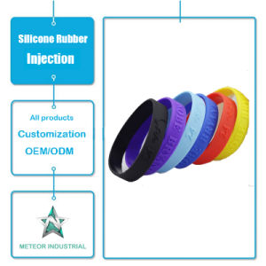 Customized Silicone Rubber Injection Mould Products Promotional Gifts Silicone Bangle Bracelet pictures & photos