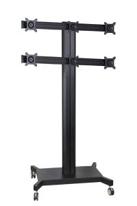 "Public TV Floor Stand 6-Monitor 10-24"" (AVD 006F) pictures & photos"