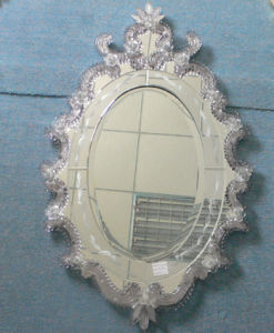 Murano Design Glass Wall Mirror (GJJ12)