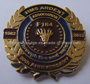 Lapel Pin Gold Plating & Soft Enamel (MJ-PIN-130) pictures & photos