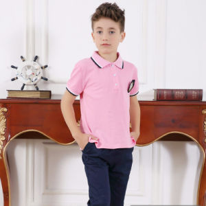 Fancy Boys Shirt and Short Pants with Girls Pink Dress pictures & photos