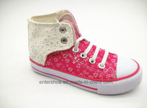 2017 New Middle Cut Pretty Kids Shoes with Crystal Stones (ET-LD160189K) pictures & photos