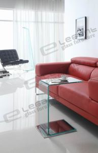 12 Mm Clear Bending Glass+ Stainless Steel Base Table S098 pictures & photos