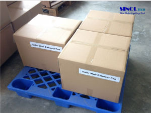 14′′ 15W Wall Mount Solar Exhaust Fan with 25W 9.6ah Battery System (SN2013015) pictures & photos