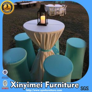 Cooktail Bar Hotel High Table Cloth with Bow (XYM-L023) pictures & photos