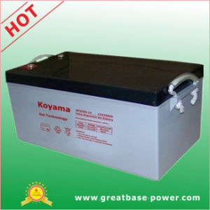 Wind/Solar Power Storage Gel Battery 250ah 12V pictures & photos