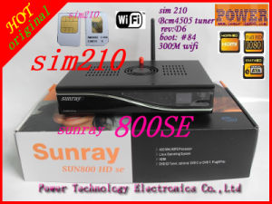 Sunray 800HD Se Support WiFi in Cable Television HD Top Set Top Box