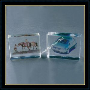 Crystal Glass Blank Cube for 3D Laser Engraving pictures & photos