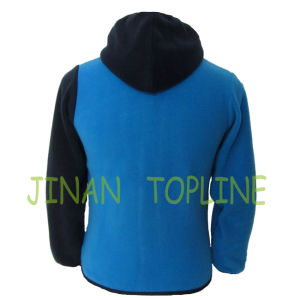 Children Stitching Colour Micro Fleece Leisure Jacket pictures & photos