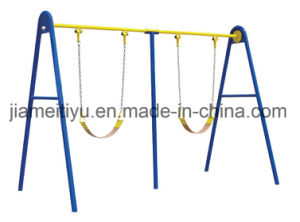 Children Outdoor Gym Equipment Twin Swings pictures & photos