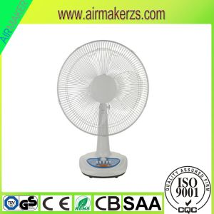 16 Inch Rechargeable Fan with LED Light Table Top Fans pictures & photos