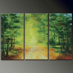 Nature Scenely Tree Oil Painting --- Tree in The Forest pictures & photos