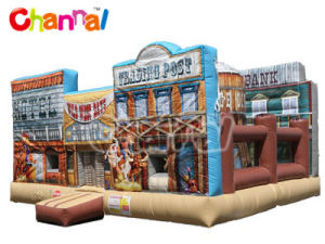 Old West Playland Inflatable Bouncy Castle Bouncer Jumper Bb278 pictures & photos
