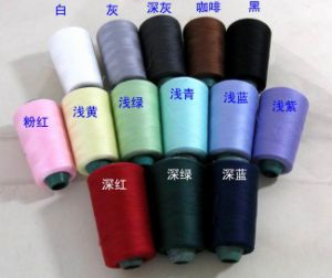 100% Spun Polyester Sewing Thread-20s to 60s All Colors pictures & photos