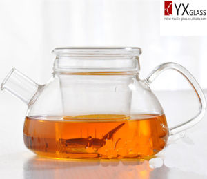 500ml Heat-Resistant Borosilicate Glass Flower Blooming Teapot/Glass Tea Maker/Glass Tea Kettle pictures & photos