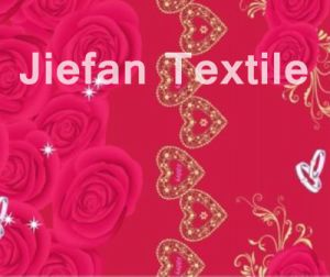 Love Roses Design Polyester Fabric