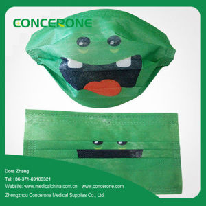 Non Woven 3 Ply Face Mask with Cute Funny Printed pictures & photos