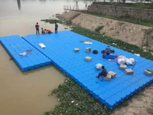OEM Blow Molding Plastic Floating Boat Dock Float Ski Floating Dock HDPE Plastic Pontoon pictures & photos
