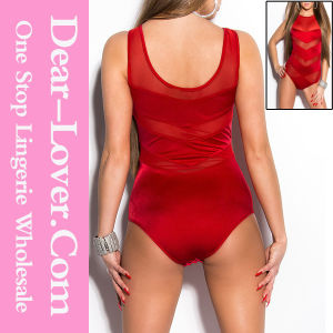 Red Mesh Bandage Teddy Lingerie pictures & photos
