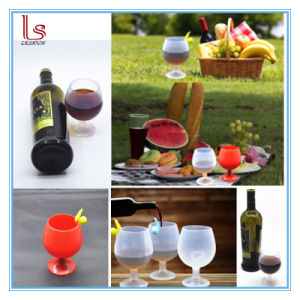 250ml Crystal Silicone Wine Glasses for Drink Red Wine pictures & photos