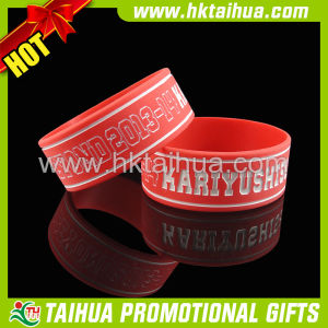 Custom Adult Silicone Bracelets with Deboss Color Filled (TH-band041) pictures & photos