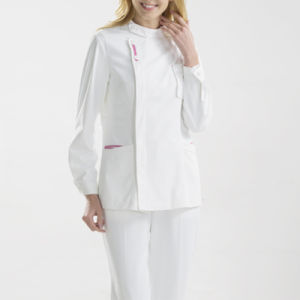 Fancy White Medical Scrub/Scrub Suit/Nurse Hospital Uniform Designs pictures & photos