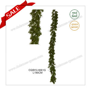 6FT Seasonal Plastic Products Holiday Decoration Artificial Garland Christmas Craft pictures & photos