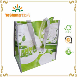 Fashion Custom Printing Full Color Printing Recycle PP Woven Bag with Handle pictures & photos