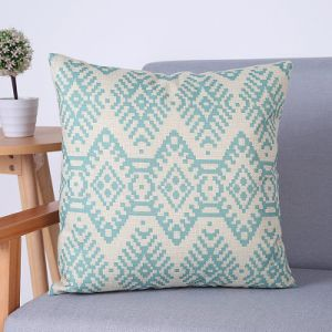 Digital Print Decorative Cushion/Pillow with Ikat Geometric Pattern (MX-60A/B/C/D/E/F) pictures & photos