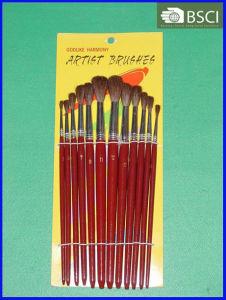 12PCS Wooden Handle Artist Brush Set (AB-069) pictures & photos