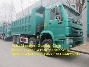 Sinotruk 12 Wheels HOWO 8X4 Dump Truck/ Tipper/ Dumper, 371HP, Rhd for Uganda Market Without Sleeper pictures & photos