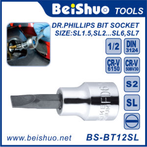 High Quality Drive Slotted Bit Socket Set, Made in China pictures & photos