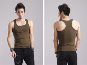 2016 High Quality Soft 100% Cotton Men Vest Y Shape pictures & photos