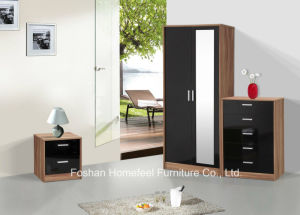 Ottawa 3 Piece High Gloss Bedroom Mirrored Wardrobe Sets pictures & photos