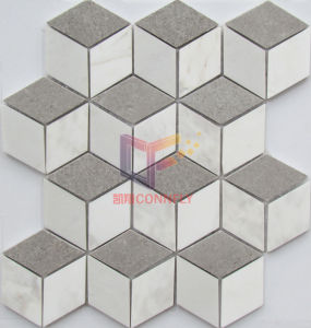 The Three-Dimensional Geometry Pattern Marble Mosaic Tile (CFS992) pictures & photos