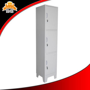 3 Tier Layer Colorful Hotel Steel Locker with Key Lock pictures & photos