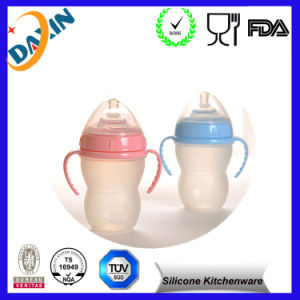 Food Grade Silicone Baby Drinking Bottle pictures & photos