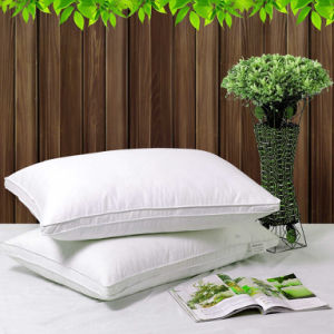 Duck Down Feather Vertical Cotton Pillows