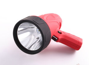 Handy Rubberized ABS Rechargeable Brightest Handheld LED Spotlight pictures & photos