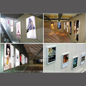 Super Slim Hanging Frameless LED Strip Light Box pictures & photos