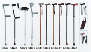 Adjustable Underarm/ Armpit Disabled Walking Aluminum Elbow Crutch Stick Cane pictures & photos