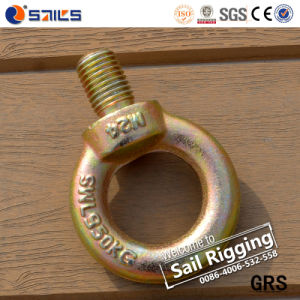 JIS 1168 Drop Forged Rigging Yellow Zinc Eye Bolt pictures & photos